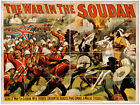 Photo Print Vintage Poster: Stage Theatre Flyer War In The Soudan 01