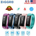 Diggro ID115 Smart Bluetooth Watch Pedometer Calorie Monitor SMS for Android iOS