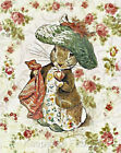 Potter Rabbit Vintage Roses Quilt Block Multi Sizes FrEE ShiP WoRld WiDE