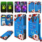 For ZTE Max XL N9560 Flip ID Card Holder Leather Wallet Cover Case Wrist Strap
