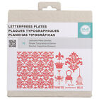 American Crafts We R Memory Keepers Letterpress Plate Set - Damask, 15 Pieces