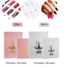 Nail Gel Polish Display Card Book Color Board Chart Nail Art 120/216 Colors