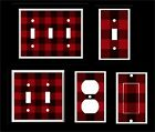 Buffalo Plaid Red and Black Lumber Jack light switch Cover Plate     HOME DECOR