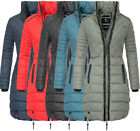 Navahoo RONIN Damen Winter Jacke Mantel winter parka warm Fell Stepp jacke Lange
