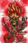 Runic Torch by Quinn Canvas or Paper Rolled Art Print