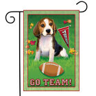 "Go Team Beagle Garden Flag Dog Football Touchdown Decorative Banner 12"" x 18"""