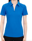North End Sport Womens Performance Pique Polo Shirt, Style 78632 Blue Large
