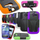 For Huawei Ascend Y Case - Protective Dual Layer Hybrid Kickstand Phone Cover