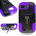 Hard Soft Stand Hybrid Armor Phone Cover Case For ZTE Fury / Valet / Director