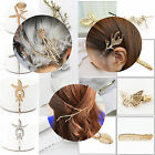 NEW 50 Styles Crystal Rhinestone Hairpins Hair Clips Gold Silver Wedding Jewelry image