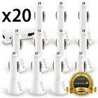 20x Wholesale Lot Car Charger USB Adapter Samsung Galaxy Note 9 Phone XS Max LG