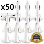 50x Wholesale Lot Car Charger USB Adapter Samsung Galaxy S10 Note 9 Phone XS Max