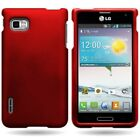 For LG Optimus F3 Slim Hard Rubber Shell Phone Cover Case - Various Colors