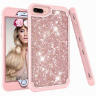 For iPhone 6 6s 7 8 Plus Girl Crystal Glitter Bling Protective Rugged Case Cover