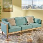 Tegan 3-Piece Mid-Century Deep Seating Sectional Sofa Set, with Piped Cushions