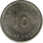 Vietanm Military Token - Can Ranh Bay Enlisted Mess Open - (10c)