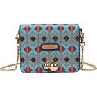 Nicole Lee Yuki Neon Beaded Clutch 2 Colors Women's Wallet NEW