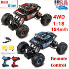 4WD RC Monster Truck Off Road Vehicle 2.4G Remote Control Buggy Crawler Car