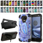 For Motorola Moto Z Force Droid Edition Hybrid Dual Layer Kickstand Case Cover