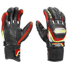 NEW $200 Leki World Cup Racing Titanium S Ski Gloves Winter Mens Black Red Lime