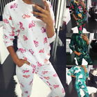 Women's Soft Suit Printing Loose Stretch Casual Home Service Sleepwear Fashion