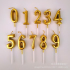 Happy Birthday Number Candles Party Cake Topper Decoration Sparkling Gold Gifts