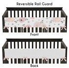 Pink Shabby Chic Floral Front Rail Guard Cover Baby Teething Crib Protector Wrap