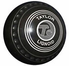 TAYLOR LIGNOID SET HEAVY WEIGHT BLACK LEVEL GREEN BOWLS#137