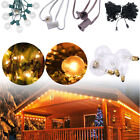 100 Foot Globe Patio Outdoor String Lights - Set of 125 G50/G40/G30 Clear Bulbs