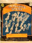 Vintage SunHill Halloween Bag of 18 Hanging Ghosts - Packaged.