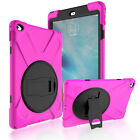 Rotating Stand Hybrid Silicone Case For iPad 2 3 4 with Screen Protector Cover
