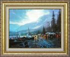 Thomas Kinkade Dawson RETIRED 12x16 Framed Classic Edition Yukon Alaska Canvas