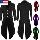 US Men Swallow-tailed Crop Coat Tuxedo Party   Jacket Steampunk Coat