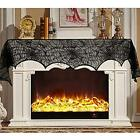 Famlighting 2 Pack Halloween Decoration Black Lace Spiderweb, Fireplace Mantle x