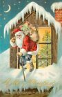 Santa Roof Top Christmas Crazy Quilt Block Multi Szs FrEE ShiPPinG WoRld WiDE