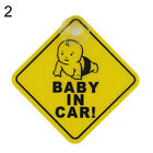 GX- Baby on Board Car Warning Safety Suction Cup Sticker Waterproof Notice Board