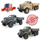 Off-Road Remote Control Military Truck Vehicle Kids Toy 6WD RC Jeep Crawler