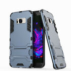 Hybrid Rubber Hard Stand Phone Case For Samsung Galaxy S6 S7 S8 Plus Note 5 4