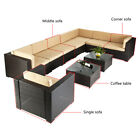 Outdoor Furniture Sectional Pe Wicker Patio Rattan Corner Sofa Set Couch Brown G
