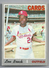 Lou Brock, St. Lous Cardinals—1970 Topps Baseball card #330—Hall of Fame
