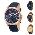 Fossil Grant 2 Chronograph Leather Men's Watch image