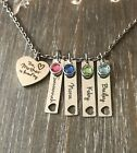 Mother Necklace Daughter son name birthstone personalized jewelry gift for MOM