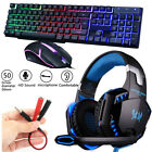 3.5mm Gaming Headset Mic LED Stereo Headphones /Gaming Keyboard & Mouse /Bundles
