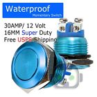 30 AMP METAL MOMENTARY WATERPROOF SWITCH 12V16mm 5/8 HORN STARTER NITROUS BUTTON