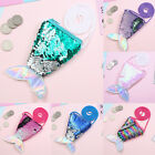 Women Mermaid Tail Sequins Coin Purse Crossbody Bags Card Holder Wallet Pouch