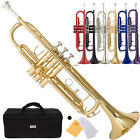 Kyпить Mendini Bb Beginner Trumpet in Gold Silver Black Blue Purple Red +Care Kit+Case на еВаy.соm