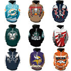 NFL Fans Fashion Men's Soft Hoodies Sweater Jackets Support suit AFC NFC