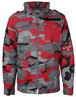 Combat Men's Tactical Heavyweight Hooded Quilted Military Camo Hunting Jacket