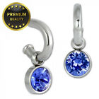 Amello ESOS02B Women's Earrings Stainless Steel Zirconia Blue