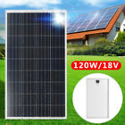 120 Watt 120W Solar Panel 18V Poly Off Grid Battery Charger For RV Sailboat Car